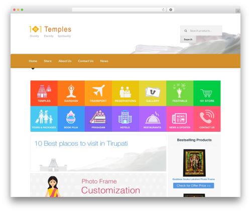 Boutique best free WordPress theme - 101temples.com