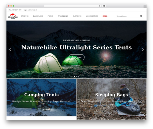 edsbootstrap WordPress theme - naturehike.com