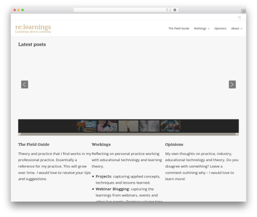 Honos free website theme - relearnings.com