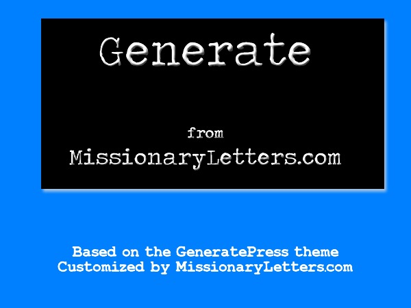 WordPress template Missionary-Letters-Generate