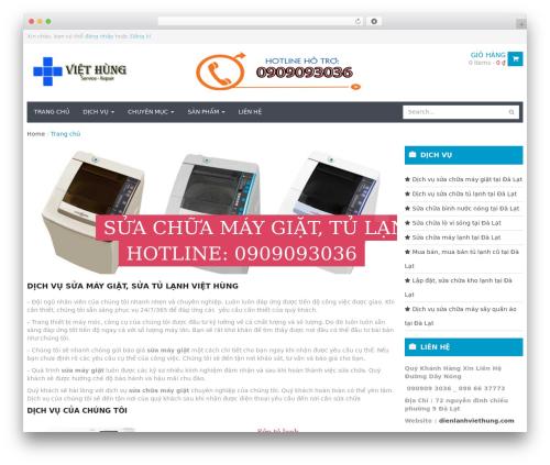 WPO Shopping WordPress theme - dienlanhviethung.com