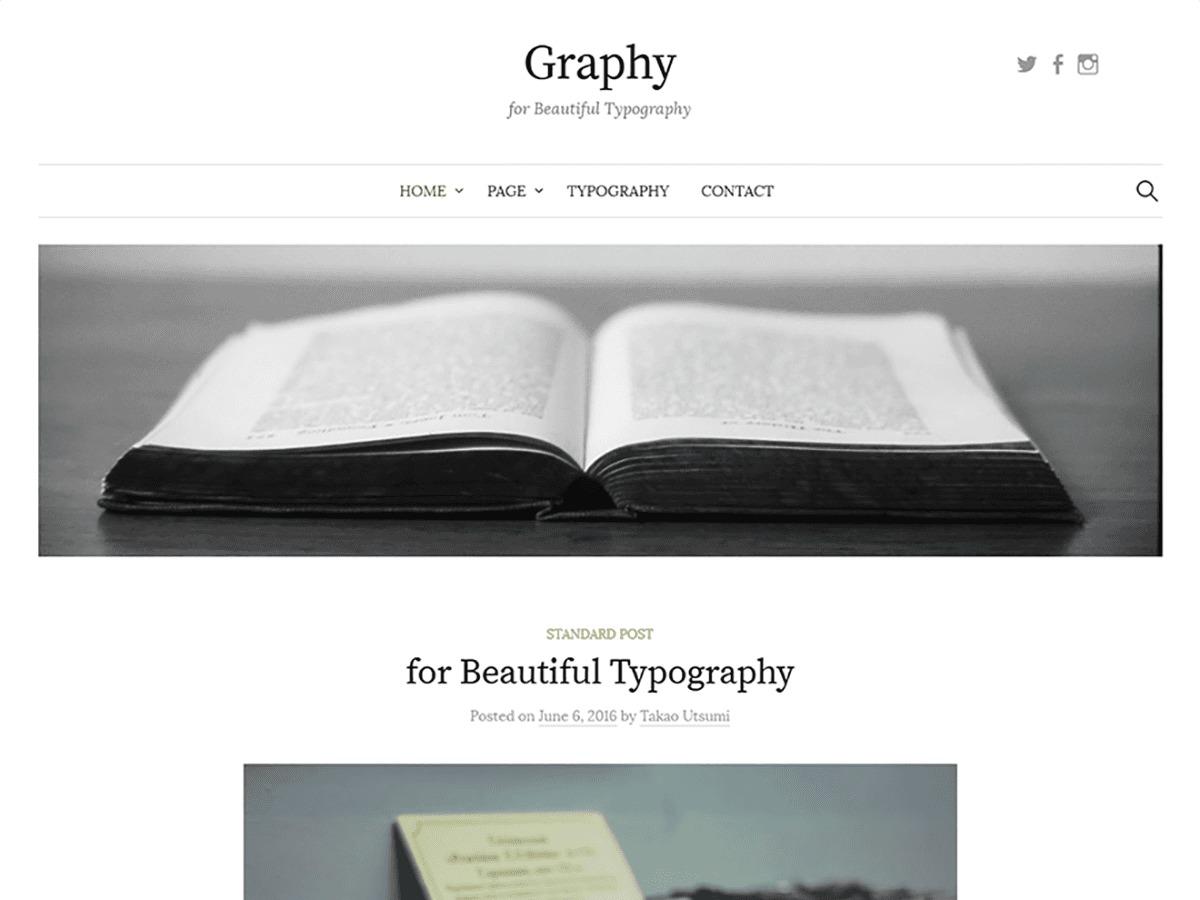Graphy WordPress blog template