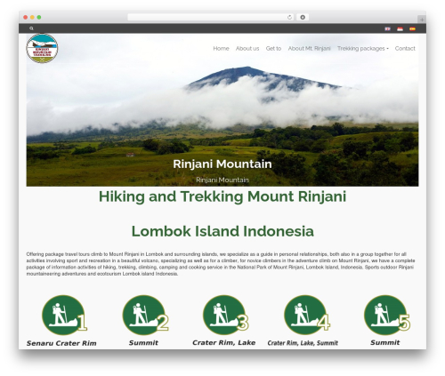Pinnacle free WordPress theme - rinjanimountaintrekking.com