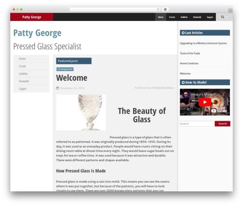 SmartAdapt WordPress template free - pattygeorge.com
