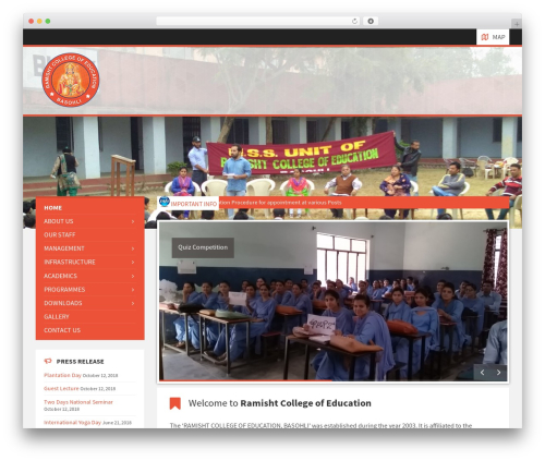 WordPress theme TownPress - ramishtcollege.com