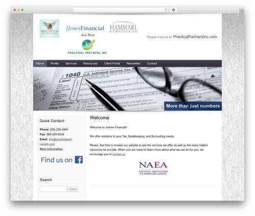 Customized WordPress theme - jjonesfinancial.com
