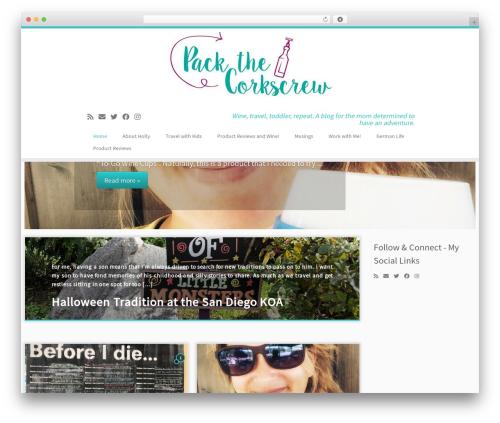 Customizr free website theme - packthecorkscrew.com