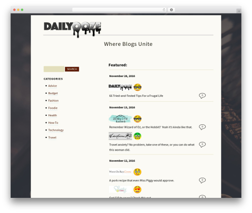 Rockers free WP theme - dailyooze.com