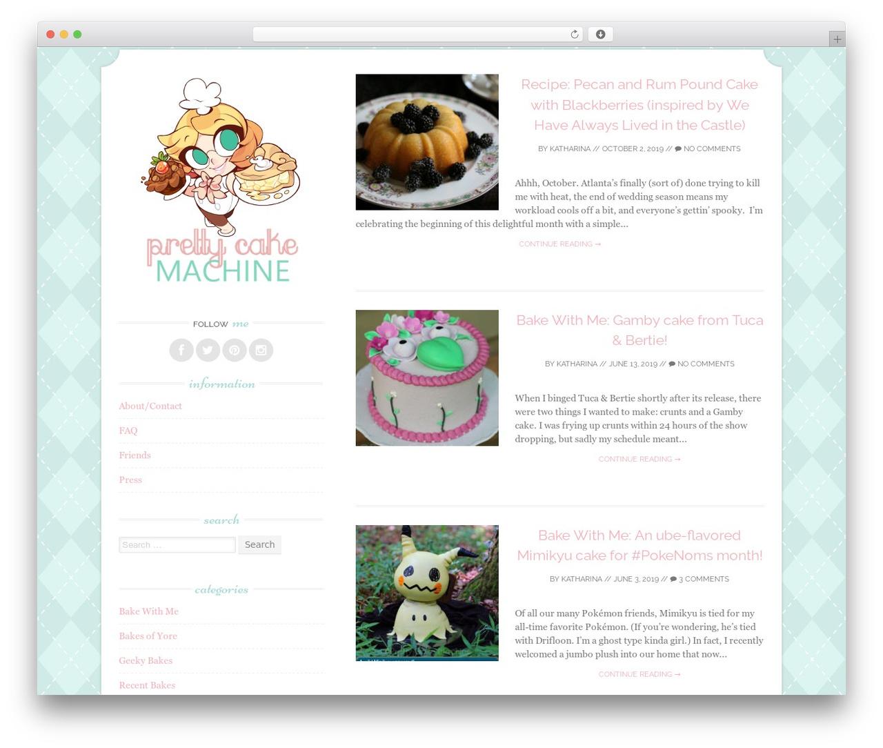 Sugar and Spice WordPress blog template - prettycakemachine.com