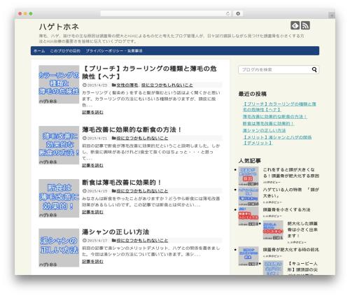 Template WordPress Simplicity2 - honenet.com