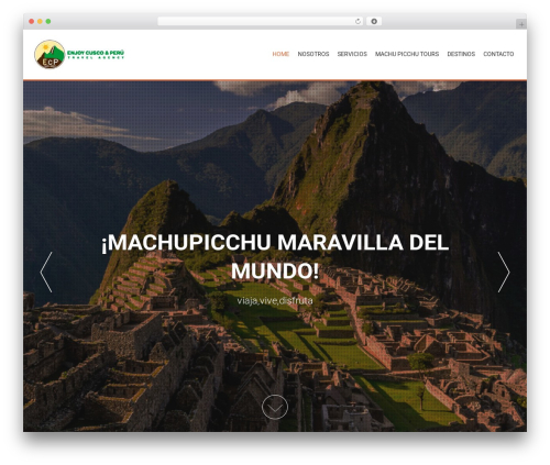 AccessPress Parallax free website theme - enjoycuscoperu.com