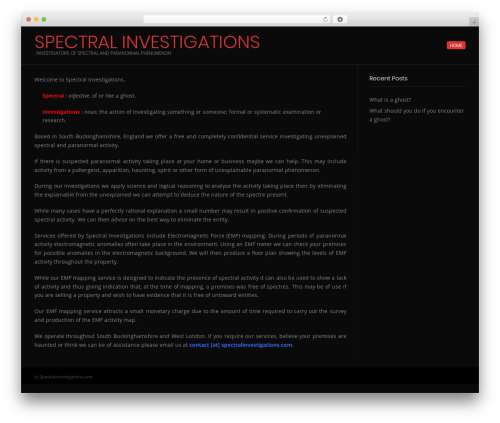 Conica WordPress template free download - spectralinvestigations.com