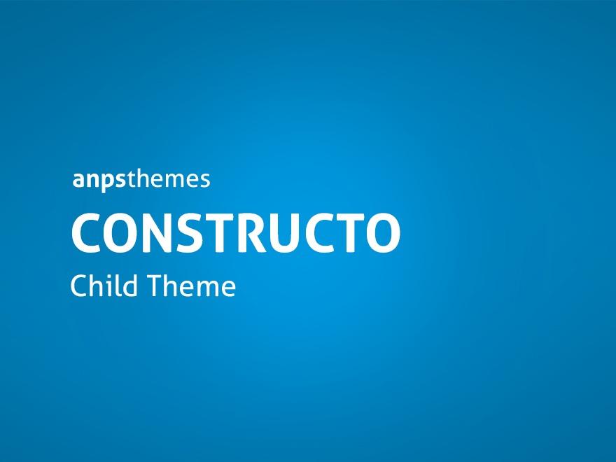 Constructo Child Theme best WordPress template