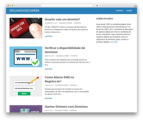 Poseidon best free WordPress theme - eduardoscherer.com
