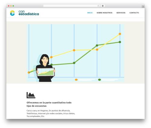 Poseidon template WordPress free - conestadistica.com