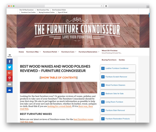 WordPress table-of-contents plugin - thefurnitureconnoisseur.com