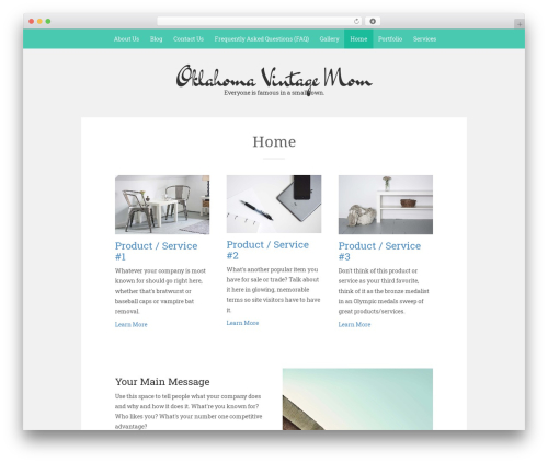 Sean Lite theme WordPress free - oklavintagemom.com