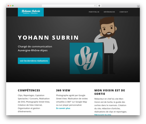 Suite WordPress theme - yohannsubrin.com