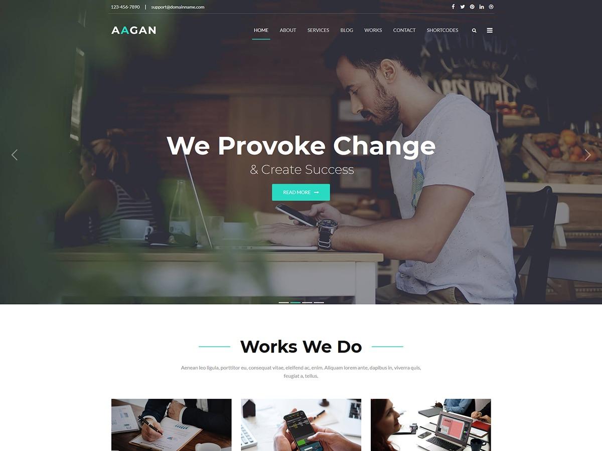 WordPress theme Aagan