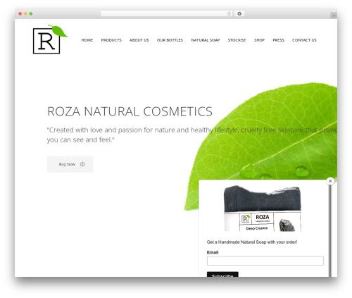 WordPress theme Bridge - rozanaturalcosmetics.com