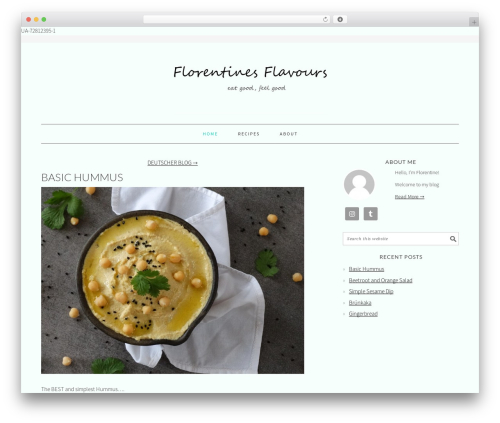 WP theme Foodie Pro Theme - florentinesflavours.com
