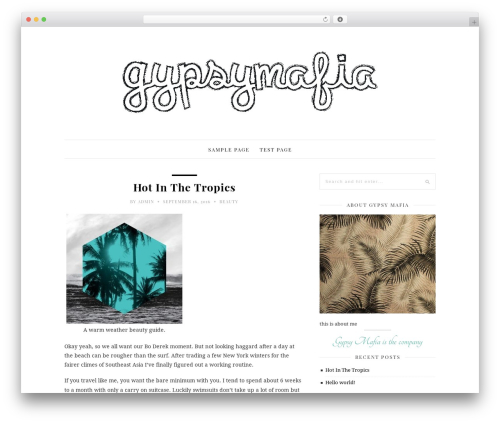 30 Day Blog Challenge WordPress blog theme - gypsymafia.com