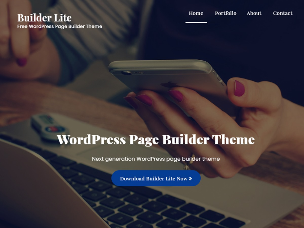 WordPress theme Builder Lite