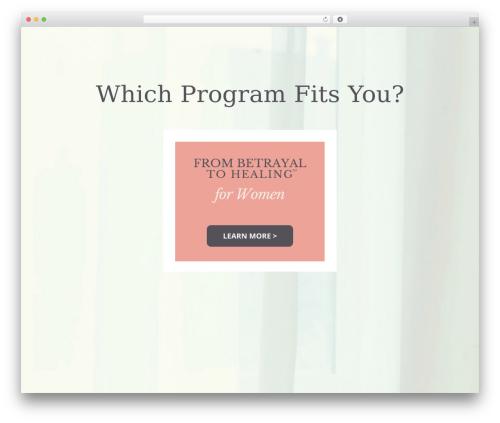 Divi WordPress website template - betrayaltohealing.com