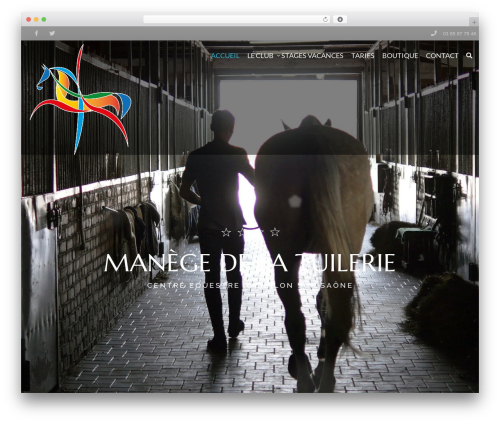 HorseClub WordPress theme - manegetuilerie.com