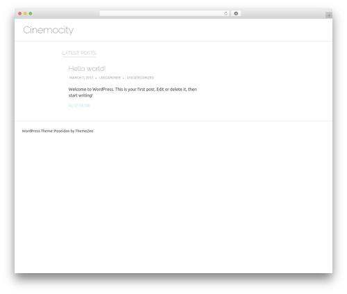 Poseidon free WordPress theme - cinemocity.com