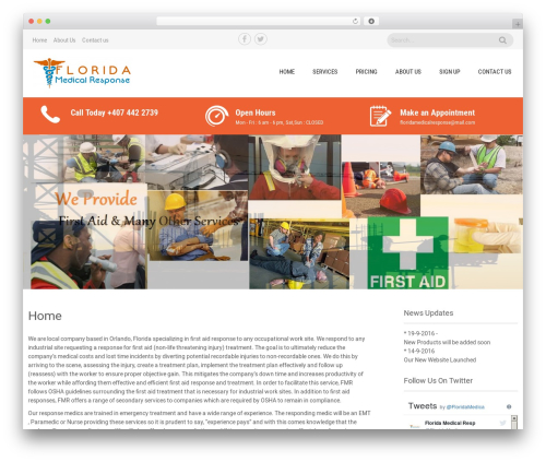 Sanitorium best free WordPress theme - floridamedicalresponse.com