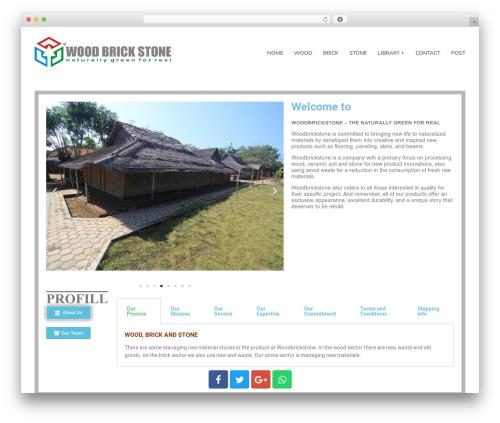 Singularity WordPress theme free download - woodbrickstone.com