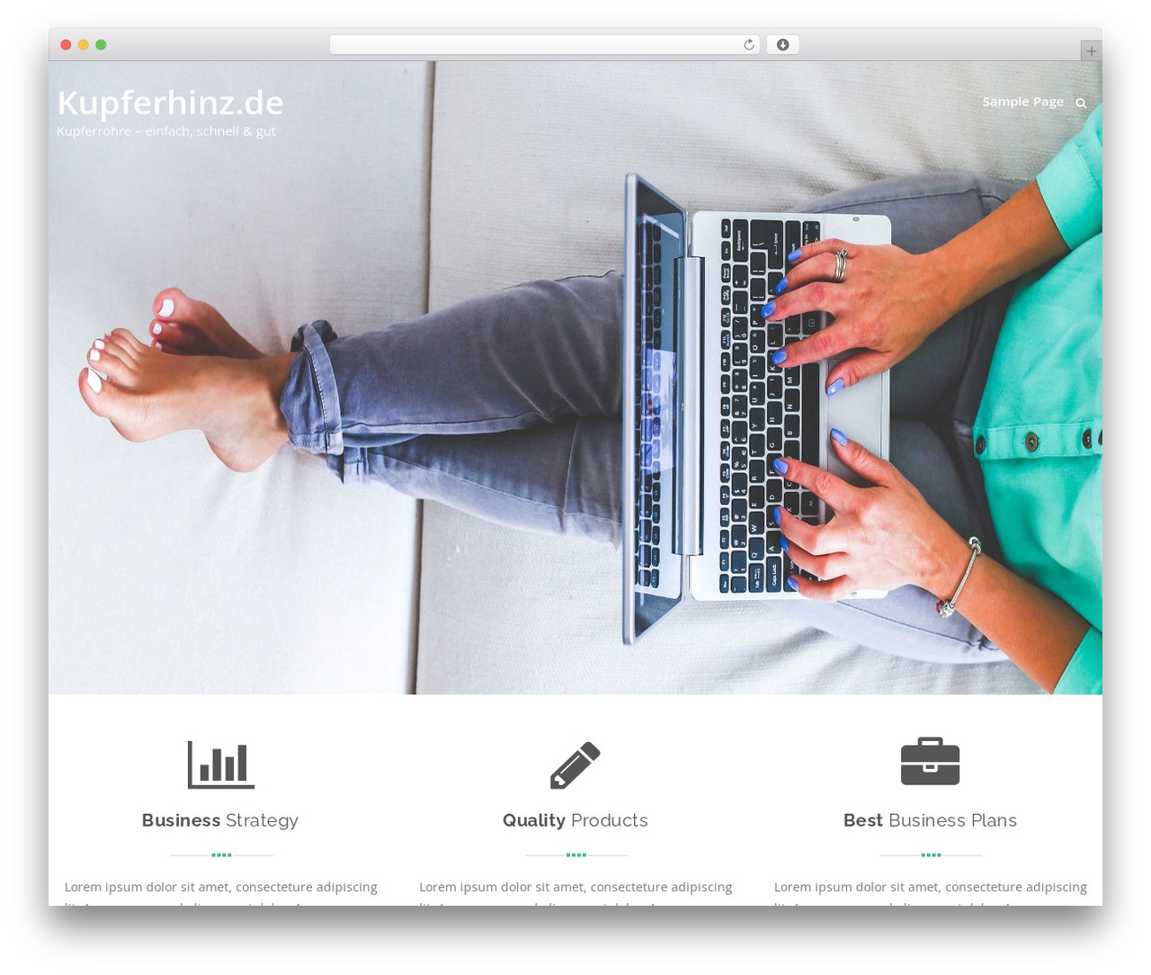 Swiftbiz Lite WordPress page template - kupferhinz.com