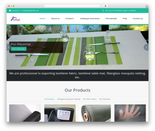 Template WordPress BusiProf Pro - textilenefabric.com