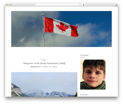 Activello free WP theme - otto-goes-around-the-world.com