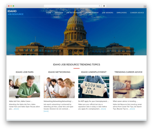 Avion WordPress theme - idahojobresource.com