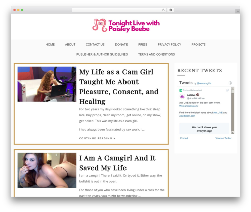Drift Blog WordPress blog template - tonightlivewithpaisleybeebe.com