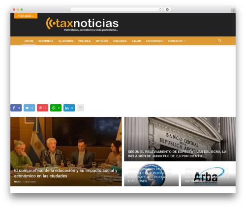 Newspaper WP theme - taxnoticias.com