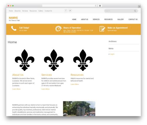 Sanitorium WordPress theme - namhealthservices.com