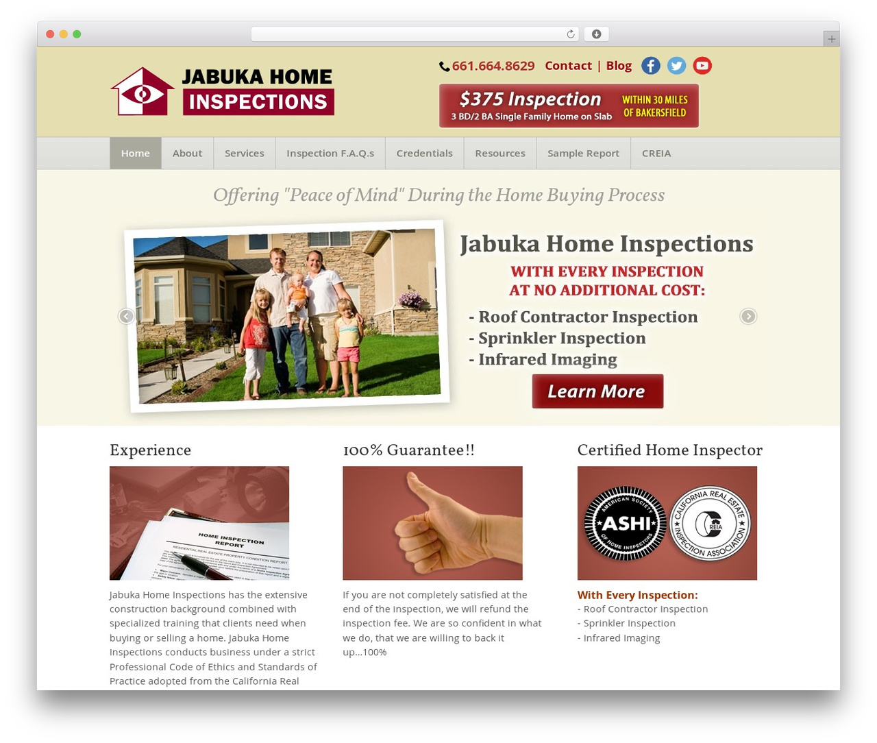 Theme WP theme - lakeisabellahomeinspector.com