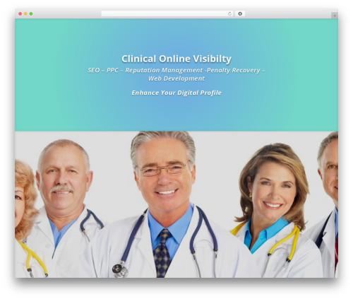 WordPress theme Divi - clinicalmarketingservices.com