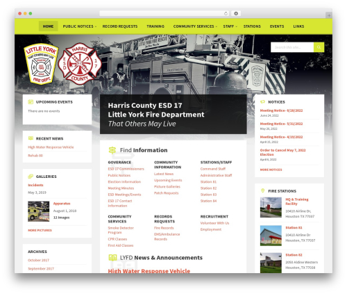 Best WordPress template TownPress - littleyorkfd.com