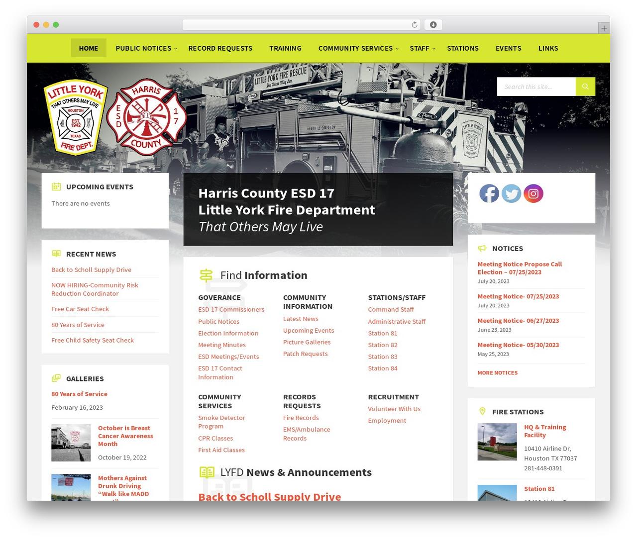 Best WordPress template TownPress - littleyorkfd.com