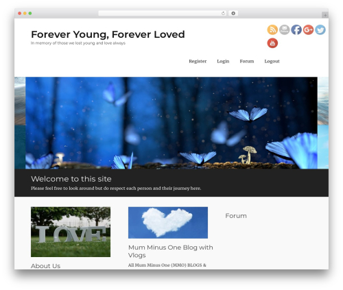 Clean Journal Pro WordPress page template - foreveryoungforeverloved.com