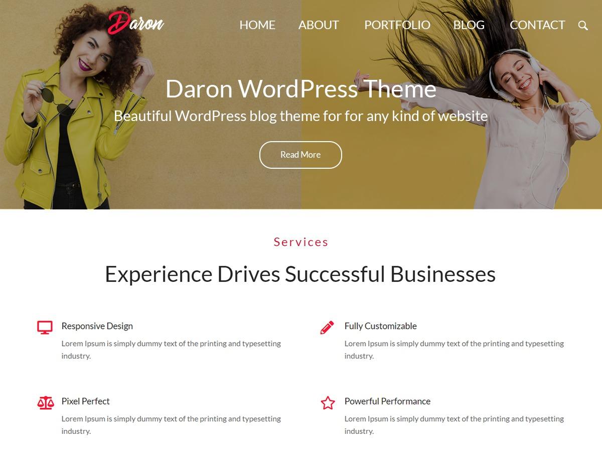 Daron WordPress ecommerce theme