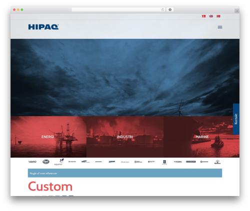 Salient theme WordPress - hipaq.dk