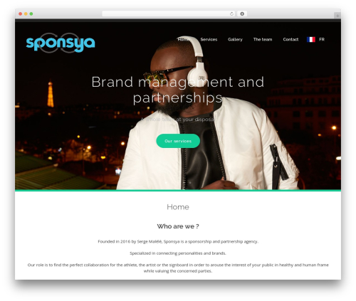 WordPress theme bizzy - sponsya.com