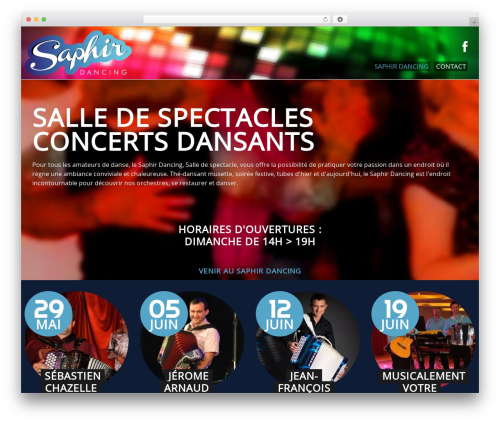 WP theme cherry - saphir-dancing.fr