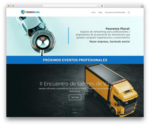 Divi WordPress theme - posventaplural.com