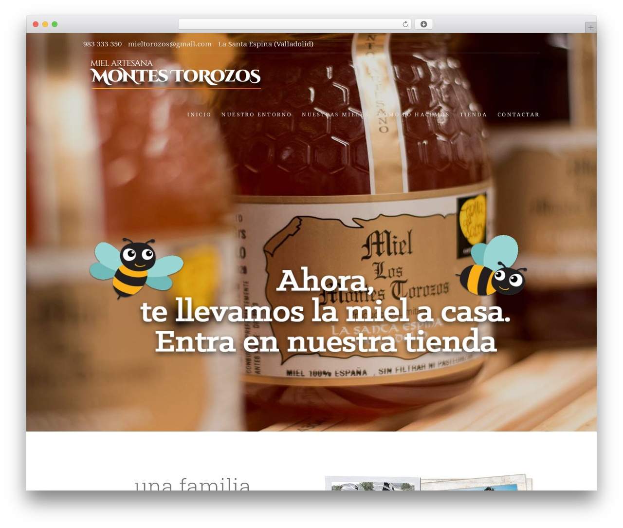 Food Express WordPress theme - mielmontestorozos.es